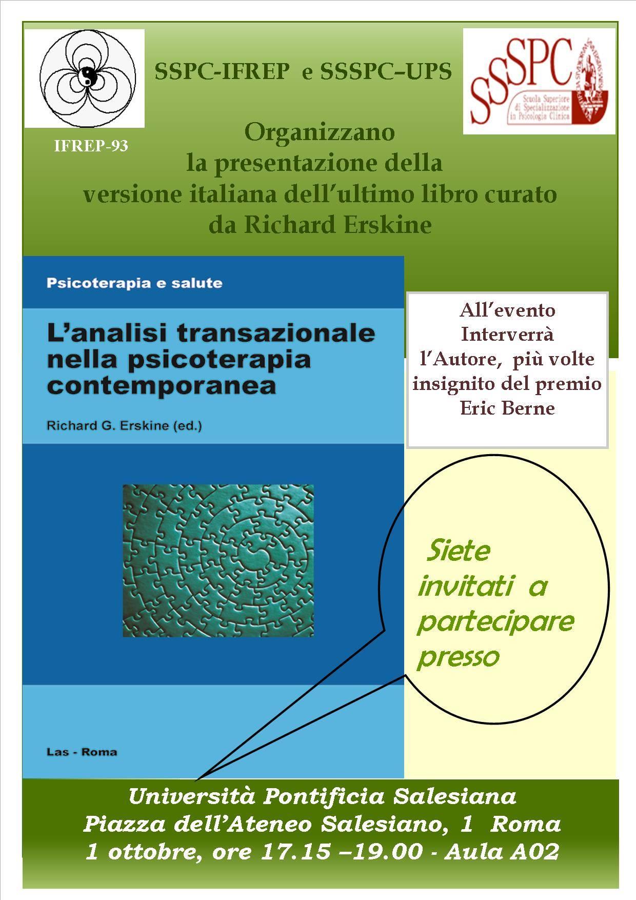 Richard Erskine – Presentazione della versione italiana del suo libro