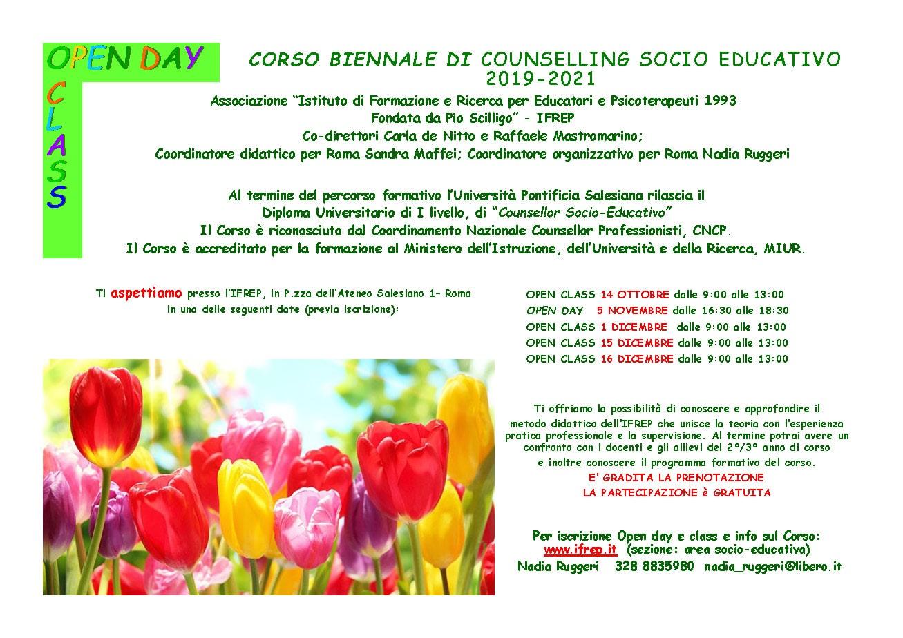 Open Class Corso Biennale Counselling Socio-Educativo