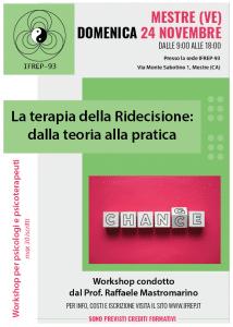 Mestre 24 Novembre – Workshop per psicologi e psicoterapeuti