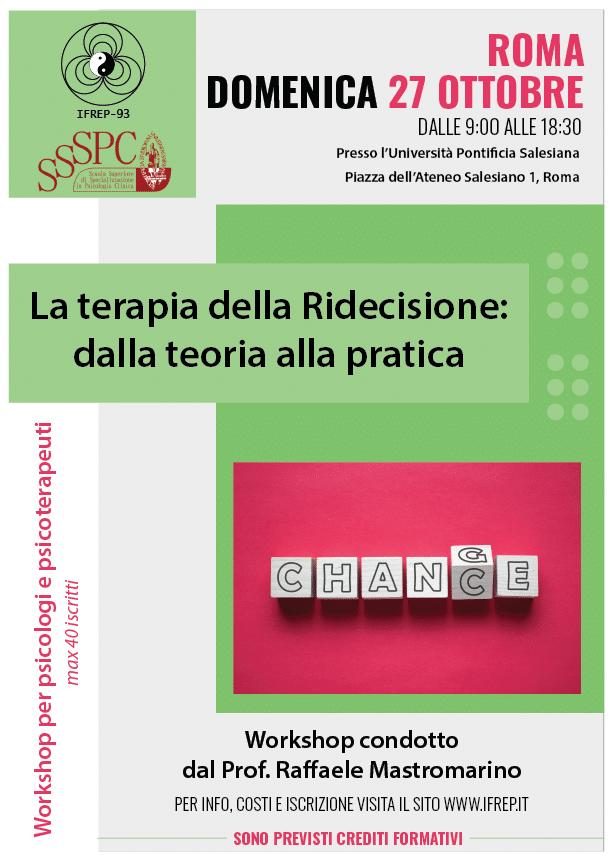 Roma 27 Ottobre – Workshop per psicologi e psicoterapeuti